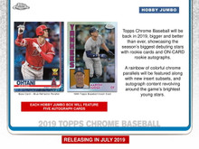 2019 Topps Chrome Baseball Jumbo HTA 8 Box Case