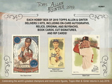 Shop DiamondCardsOnline.com for 2019 Topps Allen & Ginter Baseball Hobby 12-Box Case (Presell) & see our entire selection of baseball cards at low prices.