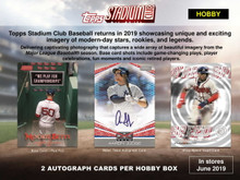 Shop DiamondCardsOnline.com for 2019 Topps Stadium Club Baseball Hobby 16-Box Case (Presell) & see our entire selection of baseball cards at low prices.