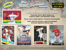 2019 Topps Archives Signature Series Active Player Edition Baseball 20 Box Case
