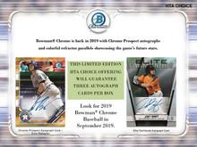 2019 Bowman Chrome Baseball HTA Choice Box