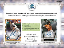 2019 Bowman Chrome Baseball Hobby Box