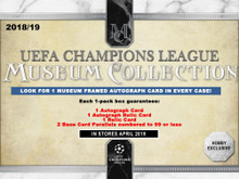 2018/19 Topps UEFA Champions League Museum Collection Soccer 12 Box Case