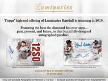 2019 Topps Luminaries Baseball Hobby 12 Box Case