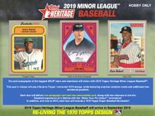 2019 Topps Heritage Minor League Baseball Hobby 12 Box Case