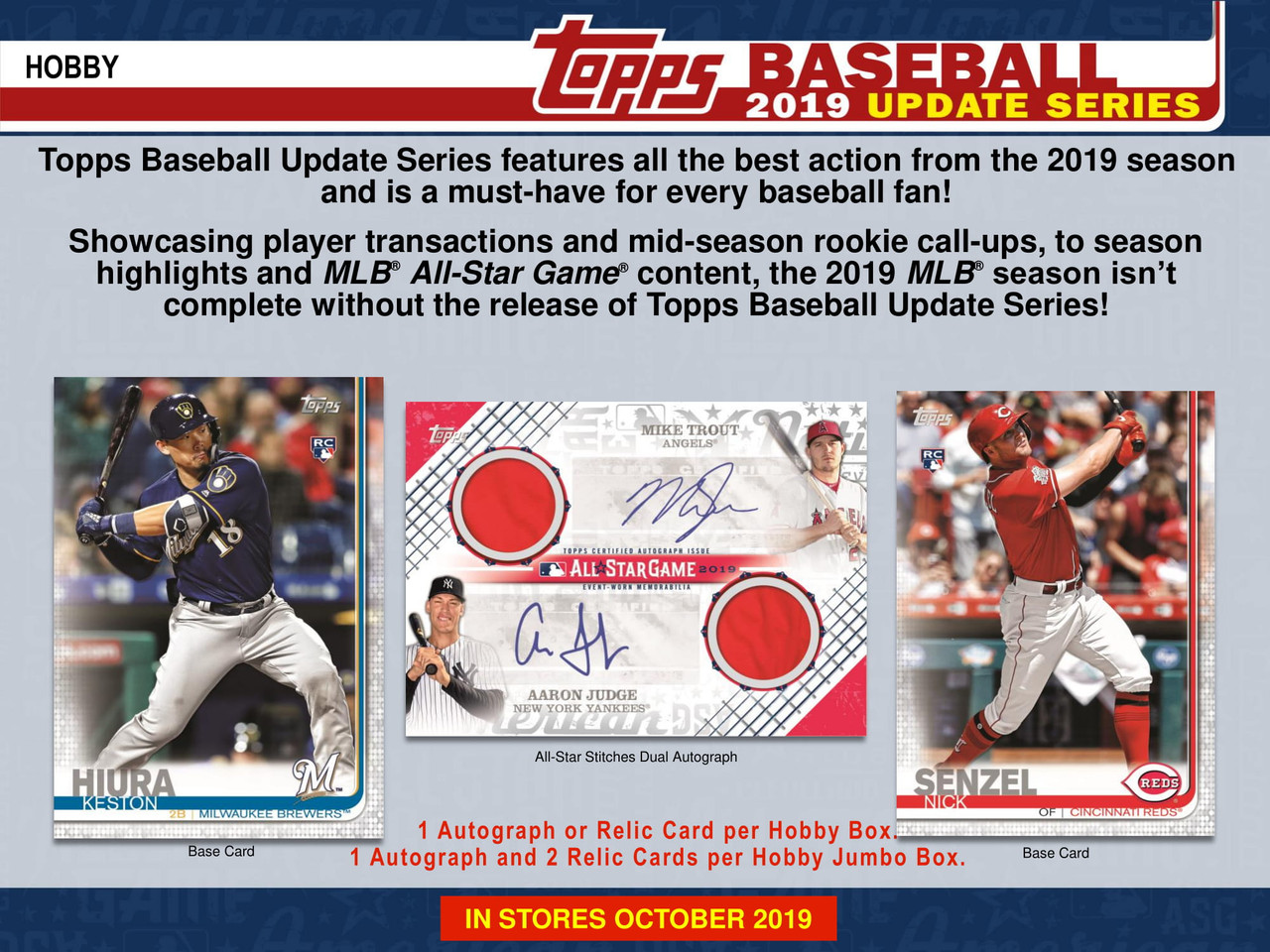 2019 Topps Update Series Baseball Hta Hobby Jumbo Box 2 Silver Packs