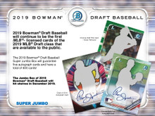 2019 Bowman Draft Baseball Hobby Super Jumbo 6 Box Case