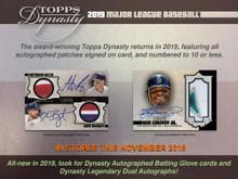 2019 Topps Dynasty Baseball Hobby 5 Box Case