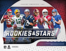 2019 Panini Rookies & Stars Football Hobby Box   Configuration: 6 packs per box. 10 cards per pack.   PRODUCT HIGHLIGHTS - Panini Rookies & Stars football returns to the hobby for 2019! Collect the league���s biggest and brightest in this long-heralded collection! - On average, each box of 2019 Panini Rookies & Stars football delivers two autographs & two memorabilia! Look for the debut of new memorabilia inserts Big Time & High Octane Memorabilia! - Collect Crusade, one of the trading card world���s most iconic inserts! - Exclusive to Hobby, collect Dress For Success, an autographed memorabilia card featuring the top players from the 2019 NFL Draft Class! - Be on the hunt for short-printed Opti-Chrome autograph parallels of Crusade, Great American Heroes, Airborne & Stellar Rookies!   BOX BREAK: - 2 Autographs - 2 Memorabilia - 5 #'d Parallels - 22 Inserts - 12 Rookies - 2 #'d Opti-Chrome Inserts  BASE Chase a 100-card base set of all the top players in the NFL. Find the following parallels in Hobby: - Orange (#���d/99) - True Blue (#���d /49) - Red & Blue (#���d /35) - Gold (#���d /10) - Black & Blue (#���d /5) - Platinum (#���d/1) - Printing Plates (#���d/1)  ROOKIES 100 of the newest NFL rookies are on display in 2019 Rookies & Stars! Collect the following parallels in Hobby: - Orange (#���d/99) - True Blue (#���d /49) - Red & Blue (#���d /35) - Gold (#���d /10) - Black & Blue (#���d /5) - Platinum (#���d 1/1) - Printing Plates (#���d/1)  ROOKIES LONGEVITY SIGNATURES Collect autographs of the latest rookies! Seek out the following parallels in Hobby: - Orange (#���d/99 or less) - Blue (#���d/75 or less) - Purple (#���d/25 or less) - Gold (#���d/10 or less) - Green (#���d/5 or less) - Platinum (#���d/1) - Printing Plates (#���d/1)  INSERTS Collect at least two opti-chrome inserts per box, on average! Be on the lookout for SP autographed versions #���d/25 or less! Crusade, Airborne, Stellar Rookies & Great American Heroes all have the following parallels: - Red (#