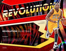 2019/20 Panini Revolution Basketball Hobby Box     Configuration: 8 packs per box. 5 cards per pack.   PRODUCT HIGHLIGHTS - Look for the ultra-rare Galactic versions of the Base, Rookies, and all Insert sets! - Find six on-card autographs per case, on average! This top-tier autograph checklist includes current stars, retired legends, and the top rookies! - Revolution is one of the most unique, collecting experiences of the year! Look for parallel versions of every Base and Rookie card on eye-catching holo card stock, including: Impact #'d/149, Cosmic #'d/100, Sunburst #'d/75, Cubic #'d/50, Lava #'d/10, and the highly sought-after Galactic parallel. - Collect a variety of inserts in the following sets: Vortex, Rookie Revolution, Shock Wave, Supernova, and Liftoff! Each has the following variations: Fractal, Cubic #'d/50, and Galactic.   BOX BREAK - 4 Rookies - 4 Inserts - 8 Parallels  BASE 2019/20 Panini Revolution basketball brings some of the brightest and most unique cards to the hobby table, combining foil accents with unique holographic card stocks. Keep your eyes open for the elusive Galactic versions!  AUTOGRAPHS Find on-card rookie autographs from the top picks of the 2019 NBA Draft Class. Also find some of the league's top current and retired player's on-card autographs. Look for the Infinite versions #'d/25 and Kaleido version numbered one-of-one!  INSERTS Look for a loaded roster of colorful insert sets to chase this year! Collect the Supernova, Shock Wave, Vortex, Rookie Revolution, and Liftoff! sets, and their parallels.