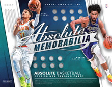 2019/20 Panini Absolute Memorabilia Basketball Hobby Box  Configuration: 2 packs per box. 5 cards per pack.   PRODUCT HIGHLIGHTS - 2019/20 Panini Absolute Memorabilia Basketball is back again this year with an incredible selection of memorabilia and autographed cards. Look for a unique selection of autographed memorabilia cards of your favorite rookies! - Chase the Tools of the Trade Three, Four, and Six Swatch Signatures set, featuring 33 of the top Rookies of the 2019-20 NBA rookie class. - Look for a new base card format this year, featuring veterans of the league as well as the top rookies. Look for parallel versions that are numbered from 199 all the way to 1. - Back again are the rare Glass cards, which feature 25 of the top NBA players and newest additions to the league.   BOX BREAK - 2 Autographs - 2 Memorabilia Cards  TOOLS OF THE TRADE Collect Tools of the Trade Signatures three ways! Each card showcases an autograph and either three, four, or six swatches of memorabilia! Each card features combinations of jerseys, hats, and basketballs!  AUTOGRAPHS Look for On Card Autographs from past and present NBA stars this year in Limitless Signatures, Rookie Autographs, and Rookie Autographs Variation. Each autograph set will have 5 different Levels.  MEMORABILIA Get a feel of the game with the very unique memorabilia cards in the Jumbo Basketball and Jumbo Hat sets. Look for oversized NBA Basketball pieces and oversized NBA Hat pieces featuring the top rookies. Also look for jersey and patch cards of current and retired stars in the Veteran Tools of the Trade set, featuring 5 different levels.