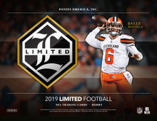 2019 Panini Limited Football Hobby Box    Configuration: 3 hobby packs per box. 5 cards per hobby pack.   PRODUCT HIGHLIGHTS - Panini Limited Football returns for 2019! Find two autographs & one memorabilia card per box. - Each hobby box features one Rookie Patch Autograph or Rookie Patch Autographs Variations. - Find on-card autographs from these sets: Rookie Patch Autographs, Rookie Patch Autographs Variations and Ring of Honor. - Look for Draft Day Signature Booklets, which contain a piece from the actual jersey held on stage at the 2019 NFL Draft! - Look for these booklet card sets: Draft Day Signature Booklets, Partnership Duals Booklets and Quad Signature Booklet!   BOX BREAK: - 2 Autographs - 1 Memorabilia Card  BASE 2019 Panini Limited football features a 100-card base set of the top players in the NFL!  ROOKIE PATCH AUTOGRAPHS Look for one on-card Rookie Patch Autograph or variation per box of 2019 Limited football.  RING OF HONOR These on-card autographs showcase some of the all-time franchise greats!  LIMITED INK Limited Ink includes autographs from the top players in the game!  ROOKIE AUTOGRAPHS Find these autographs from the top 2019 NFL rookies!  GAME DAY SWATCHES Look for these game-used memorabilia cards!  BOOKLETS Find these Limited booklet cards: Draft Day Signature Booklets, Partnership Duals Booklets and Quad Signature Booklet!  BASE Base - not #'d Base Silver Spotlight - #'d/99 Base Gold Spotlight - #'d/75 Base Ruby Spotlight - #'d/49 Base Amethyst Spotlight - #'d/15 Base Emerald Spotlight - #'d/5 Base Sapphire Spotlight - one-of-one Base Printing Plates Cyan, Magenta, Yellow and Black - one-of-ones  ROOKIE PATCH AUTOGRAPHS Rookie Patch Autographs - max #'d/299 Rookie Patch Autographs Silver Spotlight - #'d/75 Rookie Patch Autographs Gold Spotlight - #'d/49 Rookie Patch Autographs Ruby Spotlight - #'d/25 Rookie Patch Autographs Amethyst Spotlight - #'d/10 Rookie Patch Autographs Emerald Spotlight - #'d/5 Rookie Patch Autographs Sapphire Spotligh