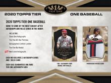 2020 Topps Tier One Baseball Hobby 12 Box Case