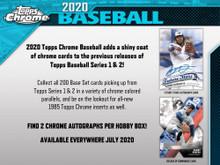 2020 Topps Chrome Baseball Hobby 12 Box Case