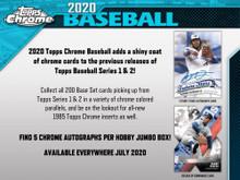 2020 Topps Chrome Baseball Hobby Jumbo HTA Box