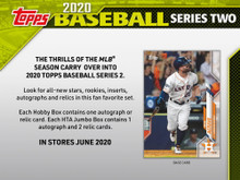 2020 Topps Series 2 Baseball HTA Hobby Jumbo 6 Box Case
