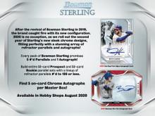 2020 Bowman Sterling Baseball Hobby 12 Box Case
