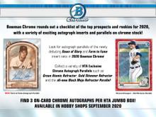 2020 Bowman Chrome Baseball HTA Choice Jumbo Box