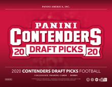 2020 Panini Contenders Draft Picks Football Hobby 12 Box Case