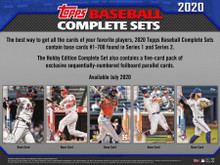 2020 Topps Factory Set Baseball Hobby (Box) (Presell)