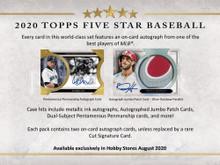 2020 Topps Five Star Baseball Hobby 8 Box Case
