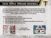 2020 Topps Triple Threads Baseball Hobby 9 Box Case