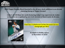 2020 Topps Chrome Black Baseball Hobby 12 Box Case