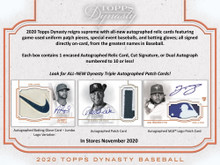 2020 Topps Dynasty Baseball Hobby 5 Box Case