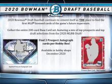 2020 Bowman Draft Baseball Jumbo HTA Box