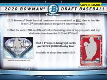 2020 Bowman Draft Picks Baseball Super Jumbo 6 Box Case