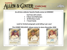 2020 Topps Allen & Ginter Chrome Baseball Hobby 12 Box Case