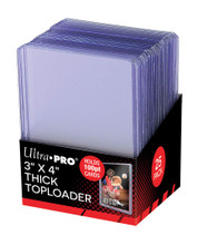 """Ultra Pro 3"""" X 4"""" Thick 100PT Toploader 25ct Pack"""
