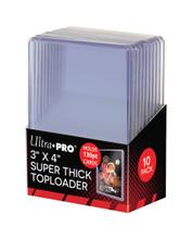 Ultra Pro 3 X 4 Super Thick 130PT Toploader 10ct Pack