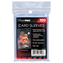 Ultra Pro 2-1/2 X 3-1/2 Soft Card Sleeves 100ct Pack