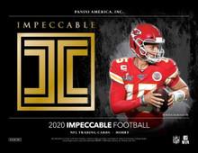 2020 Panini Impeccable Football Hobby Box