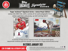 2021 Topps Archives Signature Series Active Player Edition Baseball Hobby 20 Box Case
