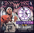 2019/20 Panini Illusions Basketball Hobby 12 Box Case