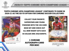 2020/21 Topps UEFA Champions League Chrome Soccer Hobby Box