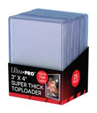Ultra Pro 3 X 4 Super Thick 75PT Toploader 25ct Pack