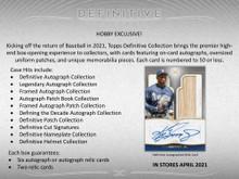 2021 Topps Definitive Baseball Hobby 3 Box Case