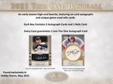 2021 Topps Tier One Baseball Hobby 12 Box Case