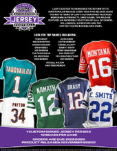 2020 Leaf Autographed Football Jersey Edition Hobby Box