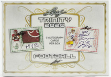 2020 Leaf Trinity Football Hobby 10 Box Case