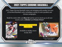 2021 Topps Chrome Baseball Jumbo Hobby HTA 8 Box Case