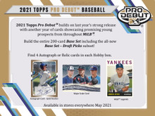 2021 Topps Pro Debut Baseball Hobby Box