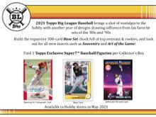 2021 Topps Big League Baseball Collector Hobby 16 Box Case