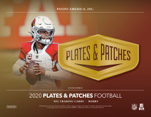 2020 Panini Plates & Patches Football Hobby 12 Box Case