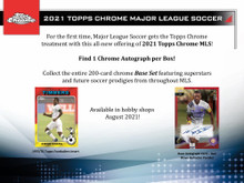 2021 Topps Chrome MLS Major League Soccer Hobby Box