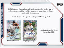 2021 Bowman Chrome Baseball HTA Choice Box