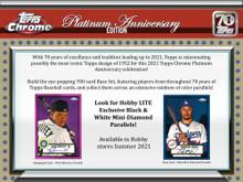 2021 Topps Chrome Platinum Anniversary Baseball Lite Hobby Box